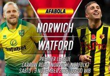Prediksi Norwich vs Watford 9 November 2019