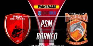 Prediksi PSM vs Borneo 2 Desember 2019