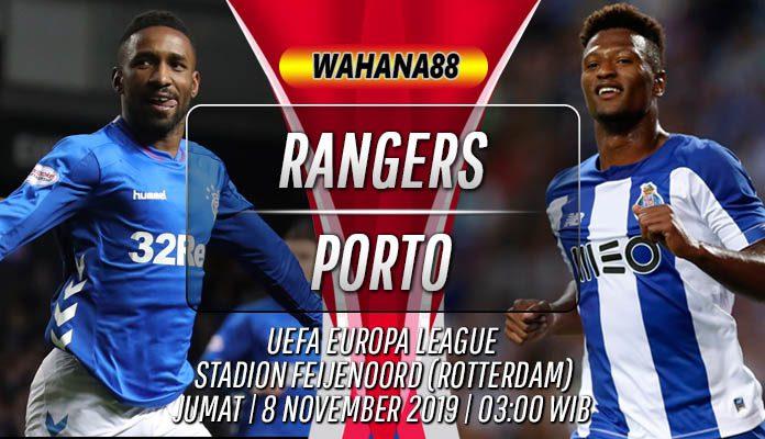 Prediksi Rangers vs Porto 8 November 2019