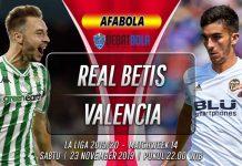 Prediksi Real Betis vs Valencia 23 November 2019