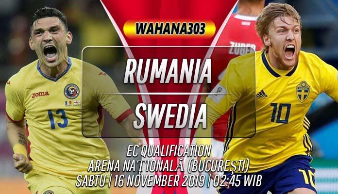 Prediksi Rumania vs Swedia 16 November 2019