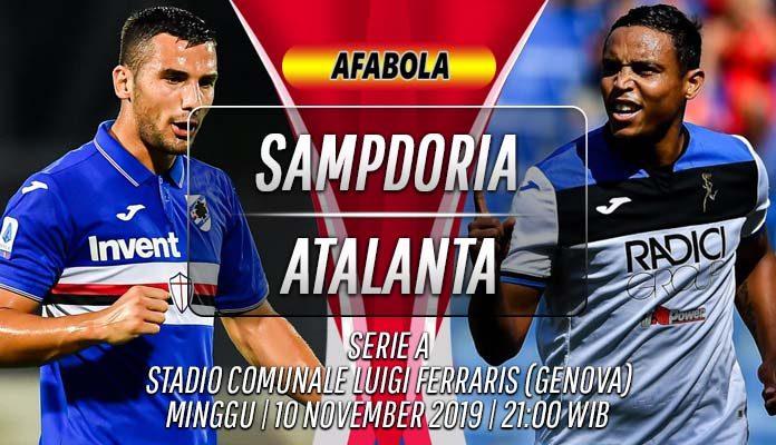 Prediksi Sampdoria vs Atalanta 10 November 2019