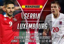 Prediksi Serbia vs Luxembourg 15 November 2019
