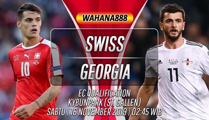 Prediksi Swiss vs Georgia 16 November 2019