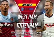 Prediksi West Ham vs Tottenham Hotspur 23 November 2019