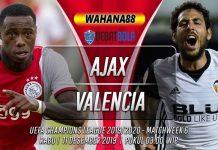 Prediksi Ajax vs Valencia 11 Desember 2019