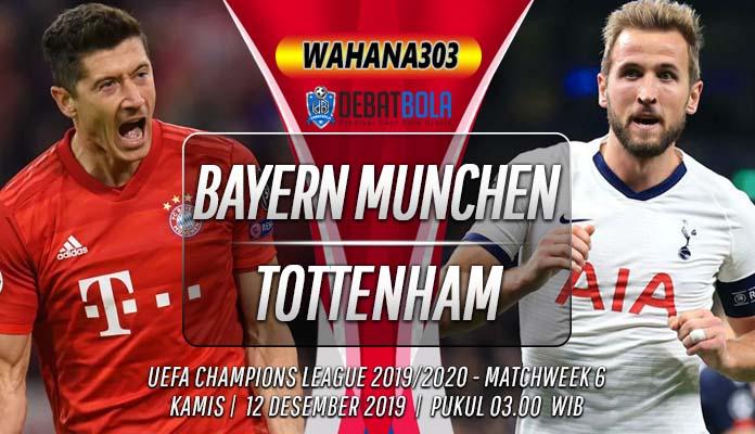 Prediksi Bayern Munchen vs Tottenham Hotspur 12 Desember 2019