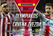 Prediksi Olympiakos vs Crvena Zvezda 12 Desember 2019