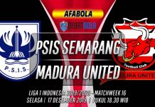 Prediksi PSIS Semarang vs Madura United 17 Desember 2019