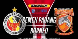 Prediksi Semen Padang vs Borneo 17 Desember 2019