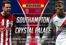 Prediksi Southampton vs Crystal Palace 28 Desember 2019