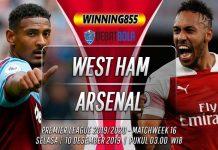 Prediksi West Ham vs Arsenal 10 Desember 2019