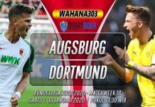Prediksi Augsburg vs Borussia Dortmund 18 Januari 2020
