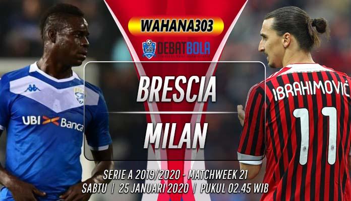 Prediksi Brescia vs Milan 25 Januari 2020