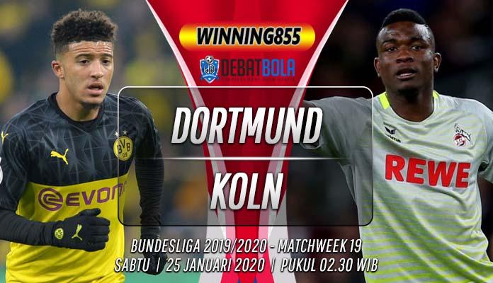 Prediksi Dortmund vs Koln 25 Januari 2020