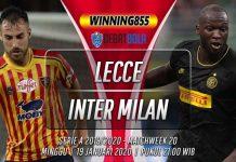 Prediksi Lecce vs Inter Milan 19 Januari 2020