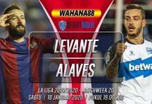 Prediksi Levante vs Deportivo Alaves 18 Januari 2020
