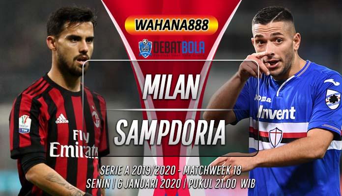 Prediksi Milan vs Sampdoria 6 Januari 2020