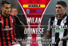 Prediksi Milan vs Udinese 19 Januari 2020