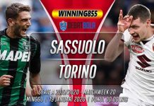 Prediksi Sassuolo vs Torino 19 Januari 2020