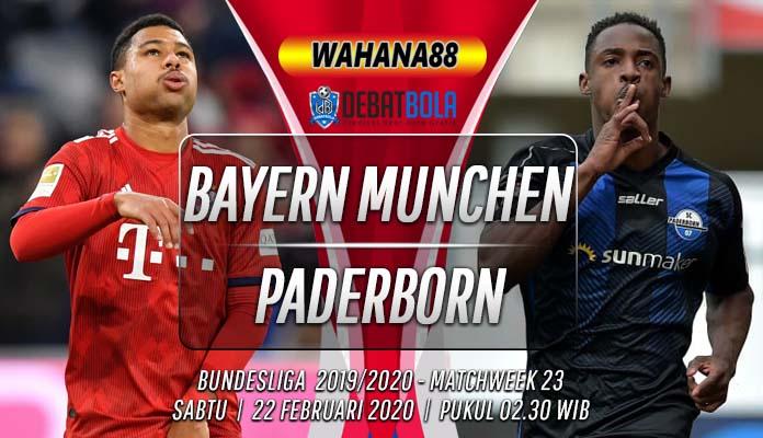 Prediksi Bayern Munchen vs Paderborn 22 Februari 2020