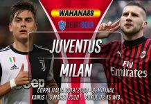 Prediksi Juventus vs Milan 5 Maret 2020