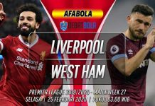 Prediksi Liverpool vs West Ham 25 Februari 2020