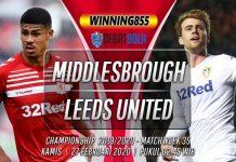 Prediksi Middlesbrough vs Leeds United 27 Februari 2020