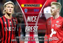 Prediksi Nice vs Brest 22 Februari 2020