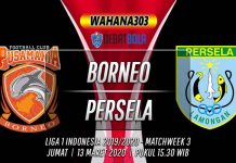 Prediksi Borneo vs Persela 13 Maret 2020
