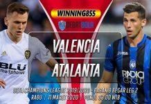 Prediksi Valencia vs Atalanta 11 Maret 2020