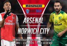 Prediksi Arsenal vs Norwich City 2 Juli 2020