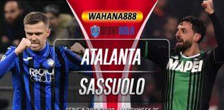 Prediksi Atalanta vs Sassuolo 22 Juni 2020