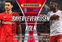 Prediksi Bayer Leverkusen vs Koln 18 Juni 2020