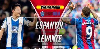 Prediksi Espanyol vs Levante 20 Juni 2020
