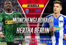 Prediksi Monchengladbach vs Hertha Berlin 27 Juni 2020