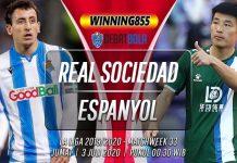 Prediksi Real Sociedad vs Espanyol 3 Juli 2020