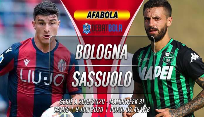 Prediksi Bologna vs Sassuolo 9 Juli 2020