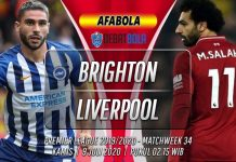 Prediksi Brighton vs Liverpool 9 Juli 2020