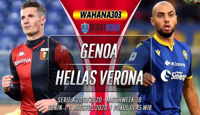 Prediksi Genoa vs Hellas Verona 3 Agustus 2020