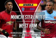 Prediksi Manchester United vs West Ham 23 Juli 2020