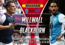 Prediksi Millwall vs Blackburn Rovers 15 Juli 2020