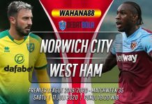 Prediksi Norwich City vs West Ham 11 Juli 2020