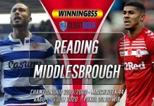 Prediksi Reading vs Middlesbrough 15 Juli 2020