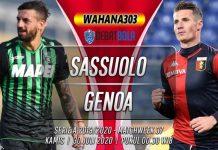 Prediksi Sassuolo vs Genoa 30 Juli 2020
