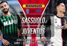 Prediksi Sassuolo vs Juventus 16 Juli 2020