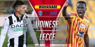 Prediksi Udinese vs Lecce 30 Juli 2020
