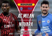 Prediksi AC Milan vs Novara 2 September 2020