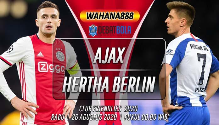 Prediksi Ajax vs Hertha Berlin 26 Agustus 2020