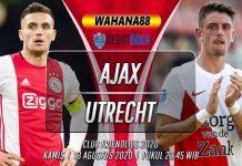 Prediksi Ajax vs Utrecht pada pertandingan Club Friendlies 2020 di Johan Cruijff Arena, Kamis (13/08/2020) pukul 22.00 WIB. Simak lengkap Prediksi Skor hingga berita Sepakbola teraktual disini.